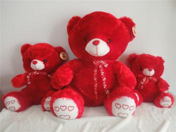 teddy bear plush toys  soft toys red teddy bear stuffed toys 60cm size factory supply freeshipping