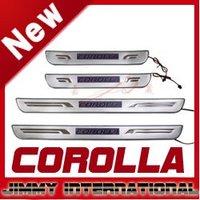 Молдинг для авто 2010-2011 Hyundai Verna / Solaris Stainless Steel Scuff Plate / Door Sill with led light high quality lowest