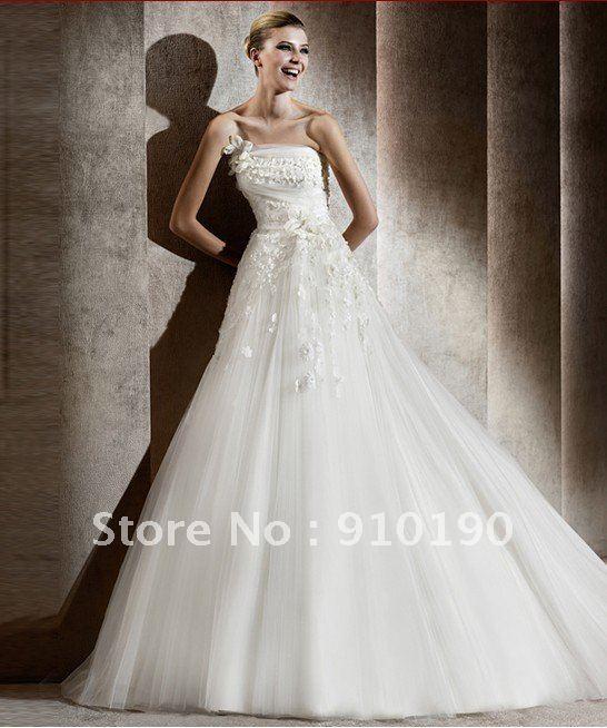 Free Shipping 2012 Neuve robe de mariee soiree mariage tous tailles-in ...