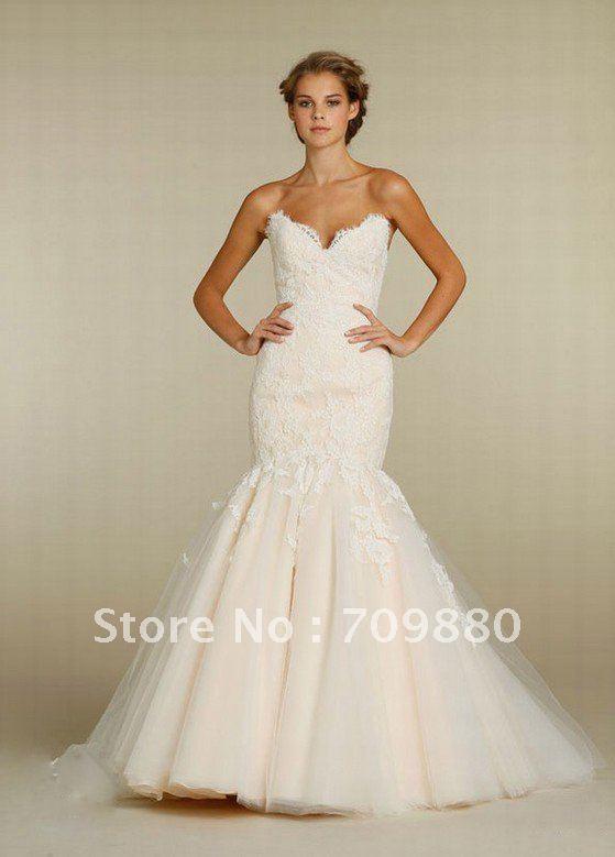 2012 New designer sweetheart neckline good quality lace mermaid wedding