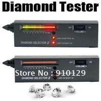 Free Shipping V2 Diamond Tester Gemstone Selector Jewelry Watcher Tool LED+Audio NEW