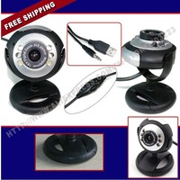 Free Shipping 30.0 Mega USB 6 LED Webcam PC Camera w/Mic