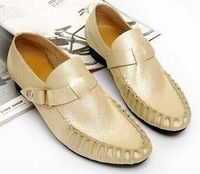 Мужская обувь Men's Fashion Genuine Leather Shining Pointed-Toe Lace Up Low Heel Leather Shoes Size US 7-10 -M158