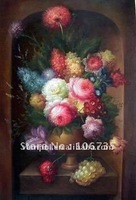 Art handmade classical flower still life oil painting on canvas