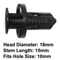 100 Pcs/Lot Push Type Bumper Clip Retainer Fastener 240SX Maxima 1994-On Replace Nissan 01553-09241 Fit 10mm Hole Plastic Clip