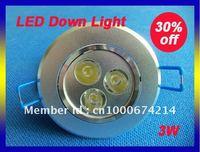 3W LED Down Light E27 White /Warm White LED Ceiling Light Al Housing