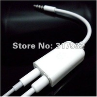 For iphone/ipod 3.5mm Earphone Splitter cable 50pcs/lot Free Shipping