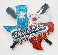 Iron basebll badge, soft enamel pin badge,Metal baseball pins