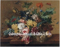 Wall hanging indigenous art classical flower still life oil painting wall art hanging
