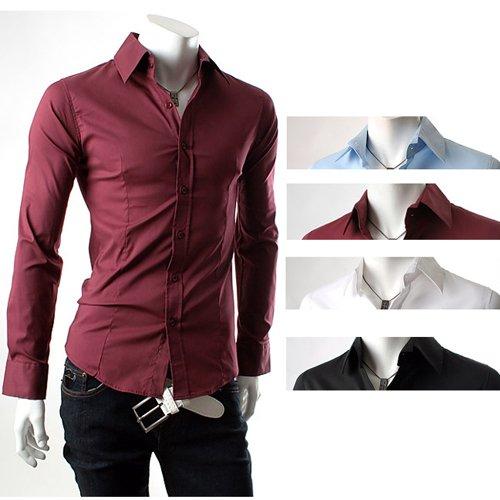 ... Stylish Dress Shirts Men shirt Fashionable Shirt Color:Black,White,Blue.