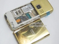 Free Shipping Mobile Phone 6300 Gold Phone With Russian Keyboard and Russian Langauge