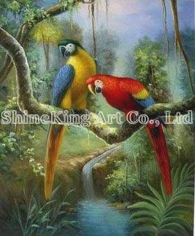 pintura a óleo da arte do pavão   AnimalC127