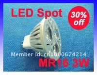 MR16 3*1W LED SpotLight DC12V LED Ceiling Light 2pcs/lot 30% off