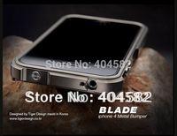 1pcs Blade Aluminum Bumper Frame Case Cover For iPhone 4G 4s, For iphone 4s Blade Bumper, Free Shipping