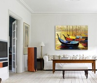 Modern art Oil Painting On Canvas  abstract wall deco  handmade boat stilllife huge size Free shipping  painting YP2130