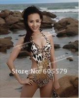 Monokini Halter Leopard Women Bathing Swimsuit Swimwear