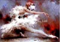 abstract ballerina oil painting