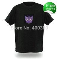 100% cotton EL T-shirts,t shirt,equalizer t-shirt,el tshirt sound active,el music flashing tshirt ,led tshirt 77088