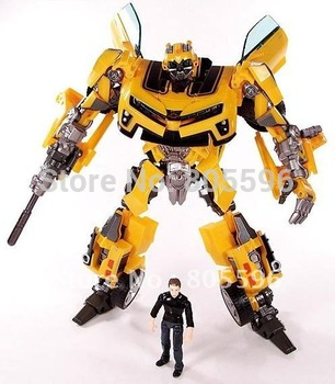 New Robot Revenge of the Fallen Human Alliance Bumblebee and Sam Action Figures drop shipping