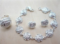 Hot selling jewelries Rose 925 silver jewelry set.925 jewelry set.silver jewelry set. wholesale C00025