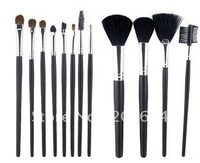 latest style, 12-Piece Cosmetic Brush Set (Black).free shipping