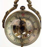 3pcs/lot Steampunk Glass Ball Transparent  Mechanical Pendant Pocket Watch Chain 80cm,  Dia: 3 cm S017
