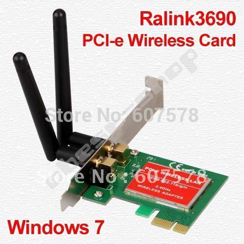 30set/lot PCI-e 300Mbps 11n 802.11b/g/n Wireless Network WiFi Card Adapter + 2 Antenna(China (Mainland))