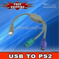 USB TO PS/2 PS2 MOUSE KEYBOARD CONVERTER CABLE ADAPTER ps2 mouse keyboard to usb