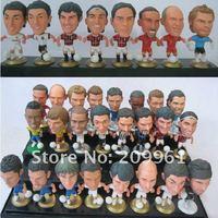 60 pcs/set wholesale PVC football basketball soccer player star collection doll cartoon toys kobe messi ronaldo Free shipping