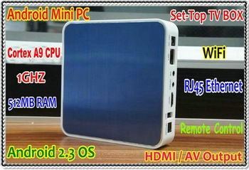 WIFI Streaming Media player HDMI AV Output Android 2.3 OS Cortex A9 CPU