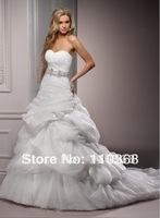 Diamond White/Black  Organza and Tulle Strapless Sweetheart Neckline Sleeveless Bridal Wedding Dresses,Bridal Dresses-Melinda