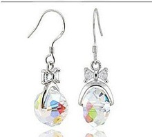 Bow fashion boutique earrings(China (Mainland))