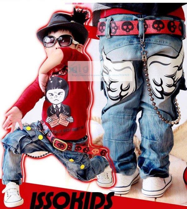 Wholesale issokids boy jeans ISSOKIDS children's kids Jeans trousers Boys Pants Washed Jeans 4PCS FREE ...
