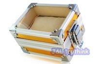 FREE SHIPPING Luxury square watch show box , creative aluminum wrist watch case,  free small folding pillow