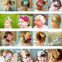 baby flower headband,  hair headband, mixed patterns per order acceptable, 50pcs/lot, DHL free shipping