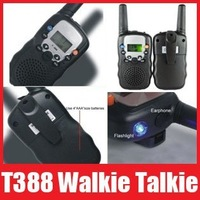 Free Shipping,1pair(2pieces) HT Mini Pocket Two Way Radio Walkie Talkie Set Eight Channel,t-388 t388 +Retail Box