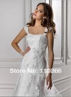 Ivory Tulle and Lace Strapless/Cap-shoulder Neckline Sleeveless Bridal Wedding Dresses,Wedding Bridal Dresses-Olivia