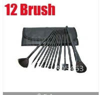 Free shippping+gift, wholesale price , 12 pcs professional cosmetic brushes set