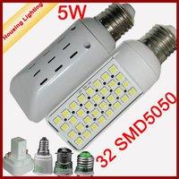 5W LED Horizontal Plug-in Light Bulb, LED Corn Light Bulb, AC85-240V, Replacement of 20W Fluorescent Lamp [Housing Lighting]