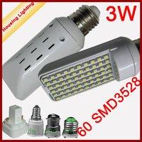 3W LED Horizontal Plug-in Light Bulb, LED Corn Light Bulb, AC85-240V, Replacement of 15W Fluorescent Lamp [Housing Lighting]
