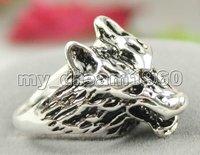 Tribal Jewelry Tibet Silver Sculpture Men's Wolf Ring