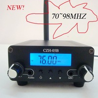 New Arrival! Free shipping 500mW 0.5W 70~98MHZ PLL  low power  fm transmitter for radio broadcast stationr kit  (Black/Silver)