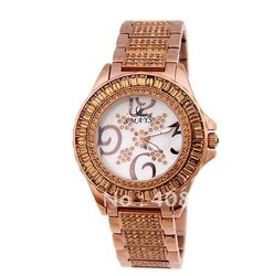 Is ms brand watch of female money luxury fashion table set auger steel and glass table of female money list(China (Mainland))