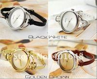 cheap ladies charm leather strap quartz watch popular elliptic watch best gift watch