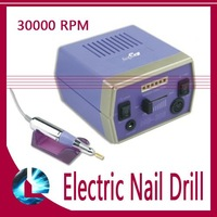 Free DHL EMS Shipping Vibration Electric Nail Art Polishing Machine Drill File with Foot  Pedal+36 Bits+100 Sand Bands 110V/220V
