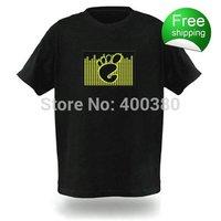 EL T-shirts,t shirt,equalizer t-shirt,el tshirt sound active,el music flashing tshirt ,led tshirt The footprints77150