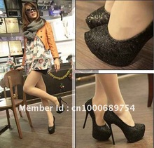 wholesale black lace heels