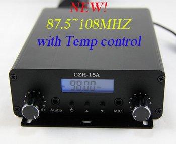 NEW! Freeshipping CZH-15A 15W stereo PLL FM transmitter radio broadcast+1/4 Wave Anti-rain Aluminum aerial+power KIT 87.5-108MHZ