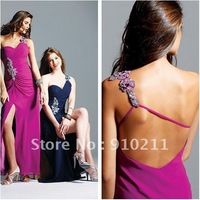 Simple Design A-line Asymetrical Sweetheart Zipper 2011 Golden Globes Jennifer Aniston Inspired Prom Dress