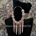 Spikes POParazzi Inspired Rose Basketball Wives Crystal Ball Hoop Earrings 9 Balls 3inch 10 Pairs